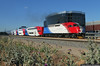 Early Bird to the Air Show (jamesbelmont) Tags: railroad railway emd mpi mp36 passenger commuter southjordan utah utahtransitauthority