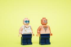 Before and After (WhiteBrix) Tags: lego custom minifigure citizen brick sunburn summer
