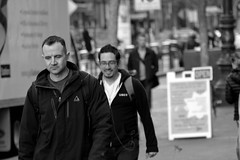 People on Market St 135 (TheseusPhoto) Tags: candid candids blancoynegro blackandwhite bnw monochrome monotone city citylife people streetphotography street streetportrait faces men guys guy man