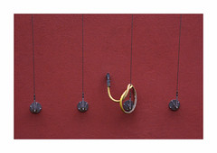 Something happened (hélène chantemerle) Tags: abstraction mur tuyau cables rouge jaune wall pipe ropes red yellow
