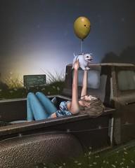 Switch off and go in a daydream. (☪ Danna Benoir) Tags: photography sl jian blueberry gacha thearcadegachaevent badunicorn grass sky pig street fameshed