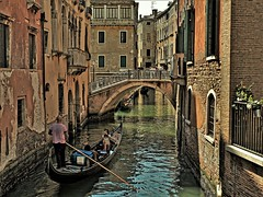 Romantic Venice - Italy (kopiecmarcin) Tags: travel boot gondola italia italiien venice wenecja water europa swimming building olympus omd10mark2 lumixg25 most beautiful picture mbpictures