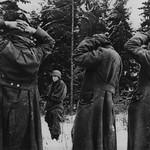 German prisoners taken during the Battle of the Bulge late December 1944. thumbnail