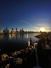 Over there ! (alestaleiro) Tags: fishing sunset sole sol sun sunny pesca tramonto contralu controluce fishermen city sityscape skyscraper cuidad cidade urban beach balneáriocamboriú sc brasil alestaleiro