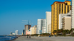 Myrtle Beach (Shawn Blanchard) Tags: myrtle beach south carolina sc buildings architecture water ocean waves sand blue yellow orange trees hotel