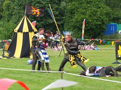 DSCF3875 (SierPinskiA) Tags: ruffordabbeycountrypark rufford knightsofnottingham fujixs1 jousting medieval horse knights goldeneagle falcon