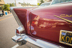 When Fins were In: '57 Chevy (Photos By Clark) Tags: lamesa california canon5div location canon1740 northamerica cities unitedstates locale places where us chevy fin 1957 chevrolet american icon restore red gold reflection lightroom thesandiegoist