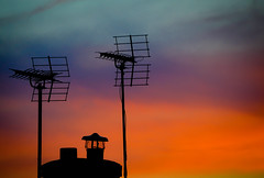 The Perfect Sunset (samuel.t18) Tags: sunset aerial shadow silhouette sky orange colours colors blue indigo lilac yellow pretty beautiful evening dusk tuesday clouds nwn