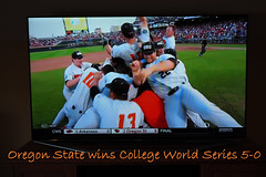 OREGON STATE BEAVERS WIN (PDX Bailey) Tags: baseball state oregon beavers college world series cws collegeworldseries sports dogpile dog pile base ball orange corvallis
