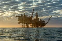 Valhall oil field (Esbern Christiansen) Tags: valhalloilfield blue bluesky ocean offshore oil oilfield oilindustry oilplatform oilrig outdoor plat rig sea sun sunlight sunset valhal valhall water