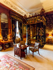 The Black and Yellow Bedroom (Carol Spurway) Tags: peterborough cambridgeshire stamford lincolnshire stmartinswithout barnack 16thcentury elizabethan burghleyhouse treasurehousesofengland hha historichouses historichousesassociation interior house