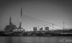 Esplanade Riel (cln2n) Tags: pegcity bridge canada winnipeg esplanade blackandwhite