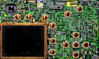 COMPACT CAMERA ELECTRONIC INSIDE