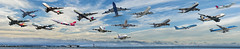 a sky full of 747's (pbo31) Tags: sanfranciscointernational sfo airport aviation boeing sanmateo sky plane collage boury pbo31 july 2018 color airline klm airfrance united flight takeoff blue qantas ana emirates sinaporeairlines koreanair jal airchina delta cathaypacific britishairways asianaairlines travel panoramic paanorama large stitched