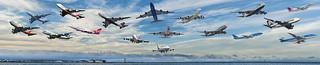 a sky full of 747's