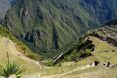 Look down / Взгляд вниз (Vladimir Zhdanov) Tags: travel peru andes mountains landscape nature machupicchu urubamba river canyon mountainside grass tree forest ruins people ancient