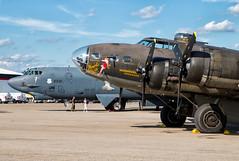 Generational Evolution (Wheelnrail) Tags: bomber b52h b17f memphis belle aircraft flying vectran dayton air show ohio airport