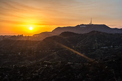 Hollywood Sunset (cmctaggs) Tags: griffith observatory sunset hollywood hills sun set landscape nikon d7100 sky night bw black white twins girls candid street photography amateur hobby famous people star walk color vibrant pretty picture dogs golden hour