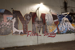 Olympia Film Society (Curtis Gregory Perry) Tags: olympia washington night long exposure mural film society nikon d810 painting wall