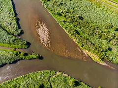 Crossroads (schmaeche) Tags: air drone mavic takahama dronie dji koisegawa koise river japan flus ishiokashi ibarakiken jp