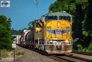 Northbound UP Manifest Train at Kansas City, KS
