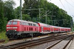 P1610325 (Lumixfan68) Tags: eisenbahn loks züge doppelstockzüge dieselloks deutsche bahn db regio baureihe 218