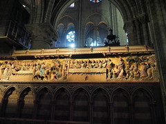 P5270813 (photos-by-sherm) Tags: notre dame cathedral paris france summer interior organ music chapels statues artwork carvings windows people
