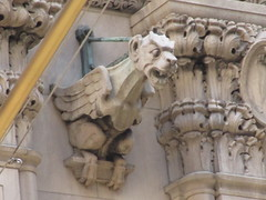 Street Level Gargoyle Old NY Times Building NYC 3987 (Brechtbug) Tags: gargoyle former new york times building square 2018 city tower architecture midtown manhattan 06182018 newspaper gothic news paper towers urban now yahoo headquarters internet business search engine computer company june spring summer art buildings old street level ny nyc