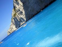 IMG_1005 (SyrianSindibad) Tags: greece zakynthos navagiobeach shipwreckbeach smugglerscove blue