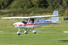G-MCVE - 2015 Red Aviation built Comco Ikarus C42 FB80, arriving on Runway 26L at Barton (egcc) Tags: 15077405 barton c42 cityairport comco egcb fb80 gmcve ikarus lightroom manchester mcvey microlight redaviation