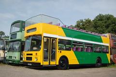 Just out of the paintshop. (Renown) Tags: bus coach doubledecker volvo citybus b10m d10m alexander rh badgerline bristol westonsupermare first cornwall devoncornwall opentop topless