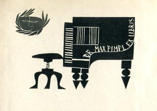Ex Libris mit Piano