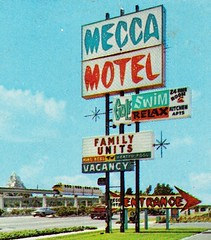 Mecca Motel Sign - Anaheim, Calif. - circa 1961 (hmdavid) Tags: mecca motel anaheim california sign 1960s disneyland