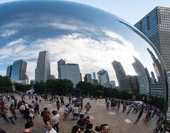 CloudGate_115216 (gpferd) Tags: bean building chicago cloudgate clouds construction landmark people plant reflection tree illinois unitedstates us