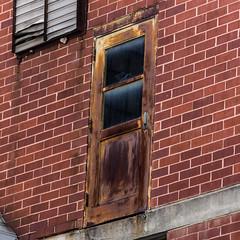 Door to nowhere but down - 2 (MarksPhotoTravels) Tags: greenvillecounty southcarolina southernbleacheryandprintworks taylors taylorsmill unitedstates