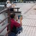 Man playing on his tablet - Taipei, Taiwan