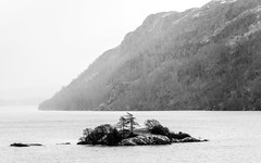 Wet in Ullswater (Paul Cronin 1) Tags: 100400lmk2 bw canon canon5ds cumbria england lakedistrict landscape landscapephotography mono nationalpark rain uk ullswater