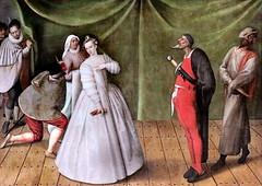 IMG_4002K X Flandre ou France  vers 1580s Scène de la Commedia dell'arte Scene from the Commedia dell'arte Avignon. Musée Calvet. (jean louis mazieres) Tags: peintres peintures painting musée museum museo france avignon muséecalvet