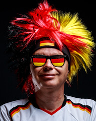 Let´s get started (Lens Daemmi) Tags: 2018 fusball germany wm cup fan football german soccer world fifa germex wig black red yellow zsmmn