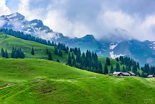 Hiking along the Swiss section of the Alps