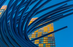Sculpture / Building (Keoni Cabral) Tags: architecture art blue building design sculpture yellow