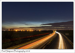 Noctilucent Clouds (Paul Simpson Photography) Tags: noctilucentclouds motorway m181 traffic night darksky darkskies traffictrails transport summer sonya77 paulsimpsonphotography imagesof imageof photoof photosof astrophotography weather june2018 summertime nighttimephotography longexposure