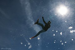 'Into the Sun' (Thierry Vermeire) Tags: ski skijump snow slopestyle counterlight winter extremesports freestyleskiing child childphotographer action