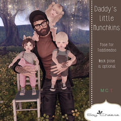 [SC] Daddy's Little Munchkins (Jany Bluebird) Tags: toddleedoo toddleedoopose family kids virtual secondlife secondlifepose summer avatars avatar virtualworld mother father siblings sister brother familypicture
