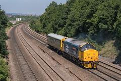 DRS Class 37 37424 'Avro Vulcan XH558' & Inspection Saloon 975025 'Caroline' (Barry Duffin) Tags: train railway locomotive drs class37 37424 37558 caroline 975025 derbyrtc york chesterfield 55mm