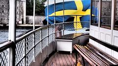 (blazedelacroix) Tags: vaxholm midsommar sweden steamship ship drama flag blue yellow y blazedelacroix summer