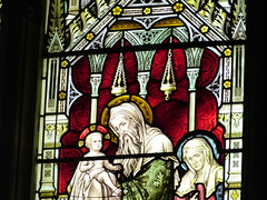 Church - Llandudno, Holy Trinity 180424 [Thursby Memorial Window i] (maljoe) Tags: church churches llandudno llandudnoholytrinity holytrinity stainedglass stainedglasswindow stainedglasswindows