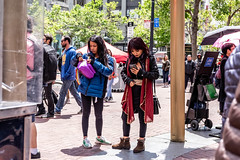 San Francisco 2018 (burnt dirt) Tags: sanfrancisco california vacation town city street road sidewalk crossing streetcar cablecar tree building store restaurant people person girl woman man couple group lovers friends family holdinghands candid documentary streetphotography turnaround portrait fujifilm xt1 color laugh smile young old asian latina white european europe korean chinese thai dress skirt denim shorts boots heels leather tights leggings yogapants shorthair longhair cellphone glasses sunglasses blonde brunette redhead tattoo pretty beautiful selfie fashion japanese belly red purple blue