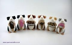 Little Ice Cream Guinea Pigs (Quernus Crafts) Tags: polymerclay quernuscrafts cute guineapig icecream buttons