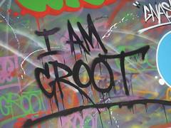 Street art Croydon, London (DJLeekee) Tags: streetart graffiti london croydon parkstreet pacman groot iamgroot